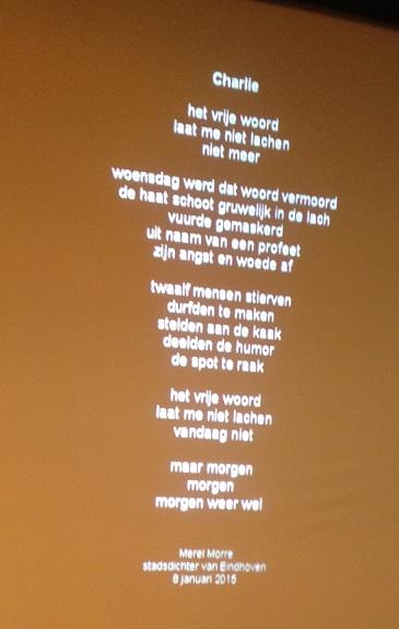 gedicht bijeenkomst Eindhoven je suis Charlie gedicht