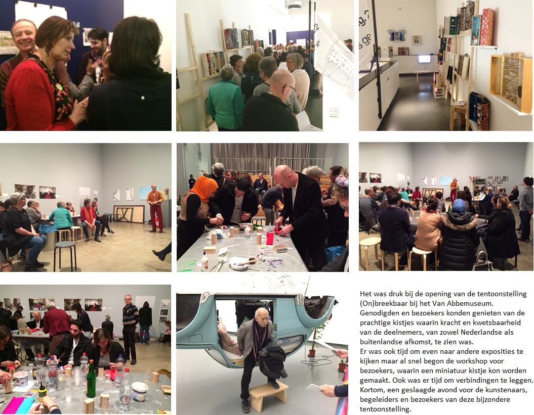170216 collage fotos tentoonstelling Onbreekbaar-1