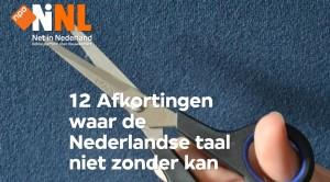 180116 12 afkortingen onmisbaar in Nederlandse taal